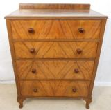 Walnut Chest of Drawers in Antique Queen Anne Style